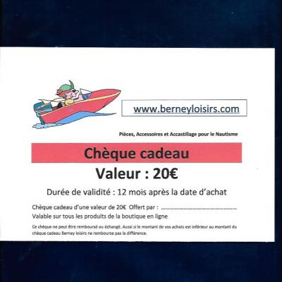 CHÈQUES CADEAUX 20,00€