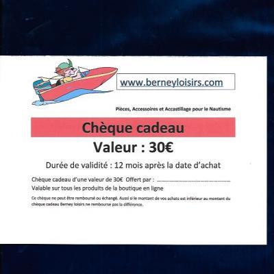 CHÈQUES CADEAUX 30,00€