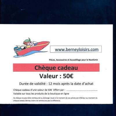 CHÈQUES CADEAUX 50,00€