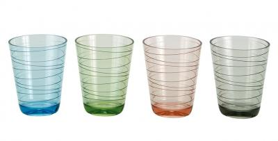 LOT DE 4 VERRES COLOR-LINES
