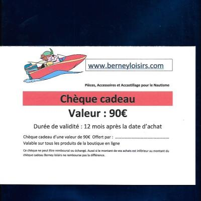 CHÈQUES CADEAUX 90,00€