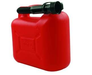 JERRYCAN ROUGE 5 LITRES HYDROCARBURES