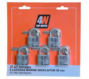 3 CADENAS ANSE INOX 30MM