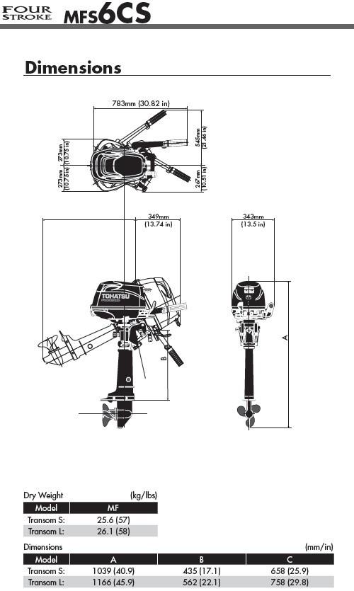 Moteur hors bord 4 temps 6 cv bi cylindre 882