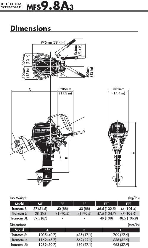 moteur hors bord tohatsu 9 8 cv bi cylindres