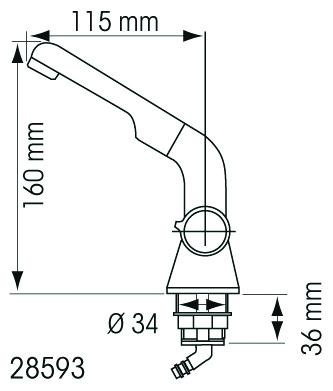 Robinet mitigeur orientable 2